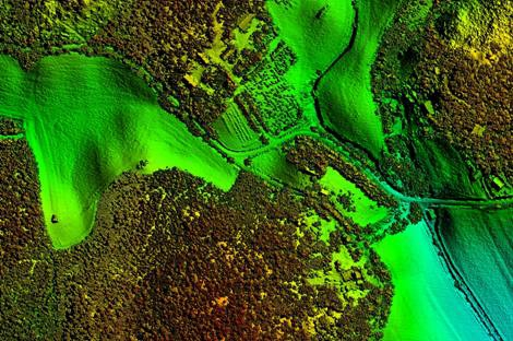 Aerial laser scanning of the territory, forests and road network of Finland